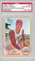 Steve Hargan AUTOGRAPH 1968 Topps #35 Indians PSA/DNA 