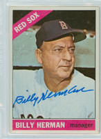 Billy Herman AUTOGRAPH d.92 1966 Topps #37 Red Sox 