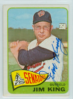 Jim King AUTOGRAPH d.15 1965 Topps #38 Senators 
