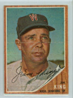Jim King AUTOGRAPH d.15 1962 Topps #42 Senators 