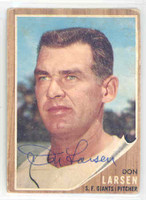 Don Larsen AUTOGRAPH 1962 Topps #33 Giants 