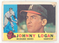 Johnny Logan AUTOGRAPH d.13 1960 Topps #205 Braves 