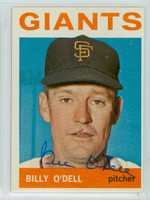 Billy O' Dell AUTOGRAPH d.18 1964 Topps #18 Giants 