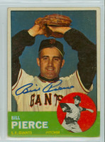 Bill Pierce AUTOGRAPH d.15 1963 Topps #50 Giants 