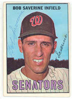 Bob Saverine AUTOGRAPH 1967 Topps #27 Senators 