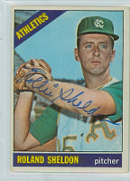 Roland Sheldon AUTOGRAPH 1966 Topps #18 Athletics 