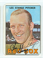 Lee Stange AUTOGRAPH 1967 Topps #99 Red Sox CLIPPED CORNERS  [SKU:StanL1813_T67BBCP]