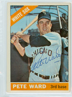 Pete Ward AUTOGRAPH 1966 Topps #25 White Sox 