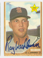 Ray Washburn AUTOGRAPH 1962 Topps #19 Cardinals 