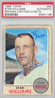 Stan Williams AUTOGRAPH 1968 Topps #54 Indians PSA/DNA   [SKU:WillS752_T68BBpa]