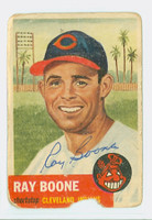Ray Boone AUTOGRAPH d.04 1953 Topps #25 Indians CARD IS POOR