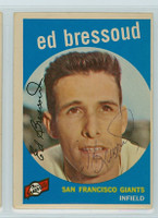Ed Bressoud AUTOGRAPH 1959 Topps #19 Giants 