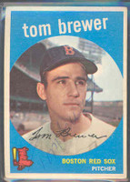 Tom Brewer AUTOGRAPH d.18 1959 Topps #55 Red Sox 