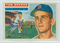 Tom Brewer AUTOGRAPH d.18 1956 Topps #34 Red Sox 