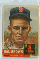 Hal Brown AUTOGRAPH d.15 1953 Topps #184 Red Sox CARD IS F/P