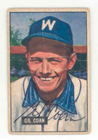 Gil Coan AUTOGRAPH 1951 Bowman #18 Senators CARD IS POOR