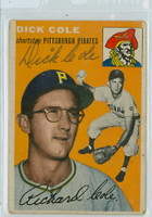 Dick Cole AUTOGRAPH d.18 1954 Topps #84 Pirates 