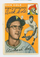 Dick Cole AUTOGRAPH 1954 Topps #84 Pirates 
