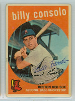 Billy Consolo AUTOGRAPH d.08 1959 Topps #112 Red Sox    [SKU:ConsB411_T59BBpl]