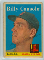Billy Consolo AUTOGRAPH d.08 1958 Topps #148 Red Sox  CARD IS F/G  [SKU:ConsB411_T58BBREjl]