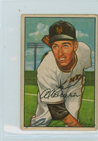 Al Corwin AUTOGRAPH d.03 1952 Bowman #121 Giants  CARD IS CLEAN VG