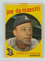 Joe DeMaestri AUTOGRAPH d.16 1959 Topps #64 Athletics TAPE 