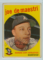 Joe DeMaestri AUTOGRAPH d.16 1959 Topps #64 Athletics CARD IS FAIR