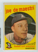 Joe DeMaestri AUTOGRAPH d.16 1959 Topps #64 Athletics CARD IS F-P