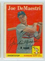 Joe DeMaestri AUTOGRAPH d.16 1958 Topps #62 Athletics 