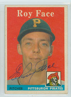 Roy Face AUTOGRAPH 1958 Topps #74 Pirates  CARD IS CLEAN VG/EX