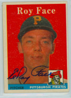 Roy Face AUTOGRAPH 1958 Topps #74 Pirates 