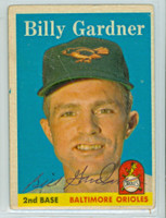 Billy Gardner AUTOGRAPH 1958 Topps #105 Orioles CARD IS F/P