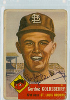 Gordon Goldsberry AUTOGRAPH d.96 1953 Topps #200 Browns  CARD IS F/G