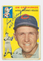 Jim Greengrass AUTOGRAPH 1954 Topps #22 Reds 