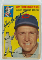 Jim Greengrass AUTOGRAPH 1954 Topps #22 Reds  PAPER LOSS