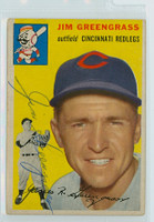Jim Greengrass AUTOGRAPH 1954 Topps #22 Reds  CLEAN