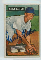 Grady Hatton AUTOGRAPH d.13 1951 Bowman #47 Reds CARD IS CLEAN VG/EX