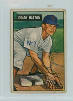 Grady Hatton AUTOGRAPH d.13 1951 Bowman #47 Reds CARD IS F/P; WRT ON FRONT