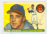 Jim Hegan AUTOGRAPH d.84 1955 Topps #7 Indians CARD IS F/G; AUTO CLEAN