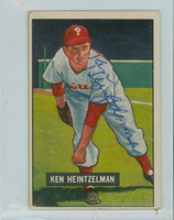 Ken Heintzelman AUTOGRAPH d.00 1951 Bowman Phillies  CARD IS CLEAN EXCELLENT