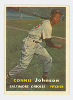 Connie Johnson AUTOGRAPH d.04 1957 Topps #43 Orioles 