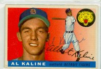 Al Kaline AUTOGRAPH 1955 Topps #4 Tigers  CARD IS G/VG; CRN CRUSH