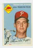 Thornton Kipper AUTOGRAPH d.06 1954 Topps #108 Phillies SHARP!