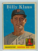 Billy Klaus AUTOGRAPH d.06 1958 Topps #89 Red Sox  CARD IS F/G