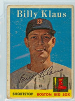 Billy Klaus AUTOGRAPH d.06 1958 Topps #89 Red Sox  