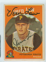 Vern Law AUTOGRAPH 1959 Topps #12 Pirates  