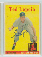 Ted Lepcio AUTOGRAPH 1958 Topps #29 Red Sox 