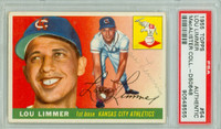 Lou Limmer AUTOGRAPH d.07 1955 Topps #54 Athletics PSA/DNA CARD IS CLEAN VG/EX  [SKU:LimmL4998_T55BBpa]