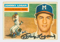 Johnny Logan AUTOGRAPH d.13 1956 Topps #136 Braves  