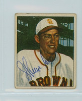Sherman Lollar AUTOGRAPH d.77 1950 Bowman #142 Browns  CARD IS CLEAN VG